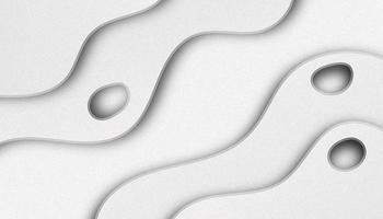 Fond en couches de papier découpé blanc vecteur