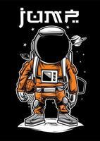 Illustration de joueur de basket-ball astronaute vecteur