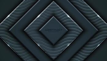 Arrière-plan de style 3D géométrique gris anthracite vecteur