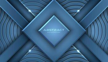 Fond de formes géométriques en couches bleues vecteur