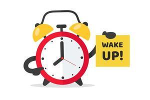 Réveil pour se réveiller au travail. vecteur