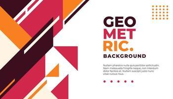Fond géométrique minimal rouge et orange