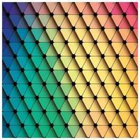 Fond coloré de triangle géométrique vecteur