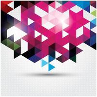 Abstrait géométrique coloré vecteur