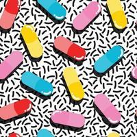 Pilules et capsules modèle sans couture vecteur