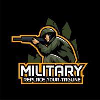 Emblème de jeu militaire vecteur
