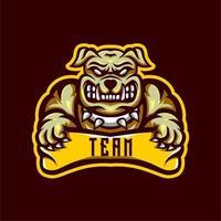 Emblème de l'équipe Bulldog vecteur