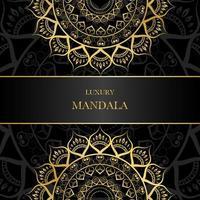 mandala de conception split doré avec espace copie