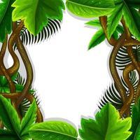 concept de cadre de feuilles de jungle