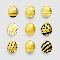 oeuf de Pâques en or vecteur