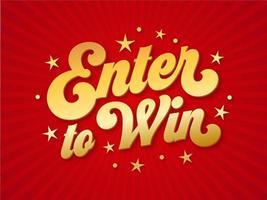 participez pour gagner la typographie d'or