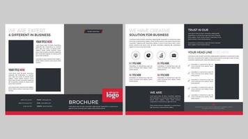 conception de pages de brochure moderne rouge et gris