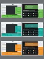ensemble de modèles de brochure créative pliée en deux