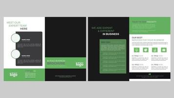 conception de mise en page de modèle vert et noir vecteur