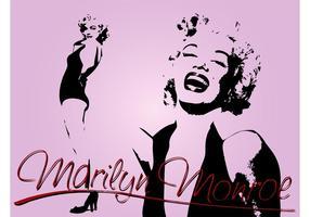 Affiche de Marilyn vecteur
