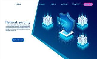 concept de sécurité des données réseau