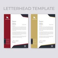 modèles de papier à en-tête de bordure verticale rouge et beige