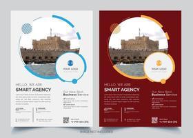 ensemble de modèles de cercle business design flyer