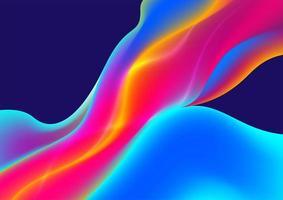 formes fluides colorées abstraites qui coule vecteur