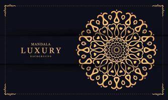 mandala décoratif de luxe avec des formes de coeur