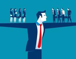 gestionnaire masculin et équipe commerciale
