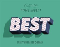 meilleur effet de texte en relief 3D vecteur