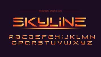 typographie sport futuriste orange