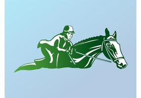 Logo de l'équitation vecteur
