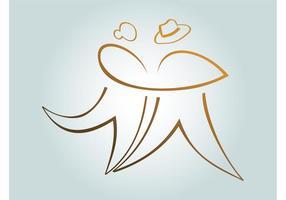 Logo de danse vecteur