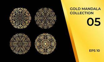 collection de symboles d'ornement doré