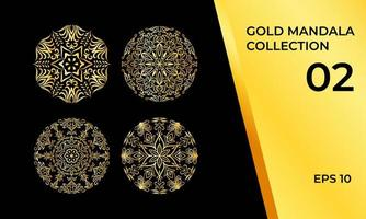 collection de mandala décoratif en or
