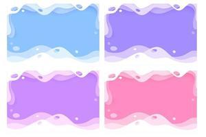 abstrait splash fond paysage papier coupé style