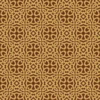 motif géométrique beige et marron