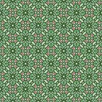 motif géométrique vert, rose et vert clair vecteur