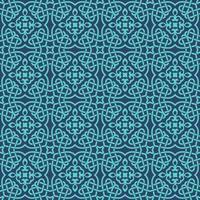 bleu avec des détails aqua motif géométrique