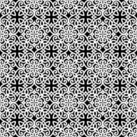 motif géométrique blanc et noir