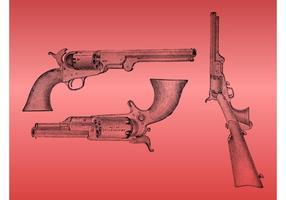 Fusils vintage vecteur