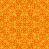 motif géométrique orange et jaune
