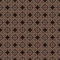 marron foncé avec des détails tan motifs géométriques