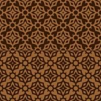 motif géométrique marron et beige