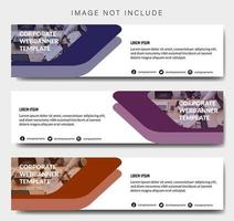 modèle de bannière d'entreprise avec des formes en couches