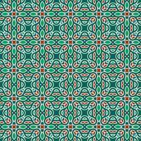 motif géométrique vert et rouge