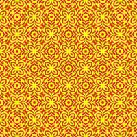 motif géométrique jaune et rouge