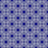 motif géométrique bleu royal et blanc