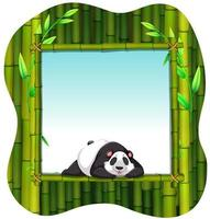 cadre en bambou et panda