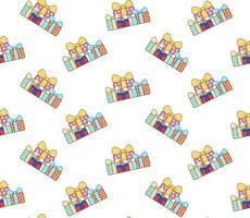 tas de modèle de boîtes-cadeaux vecteur