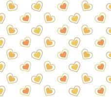 motif coeurs orange et jaune
