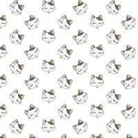 chats de dessin animé avec de la sueur sur le front