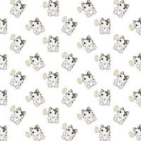 chats de dessin animé avec motif de bulle de pensée vecteur