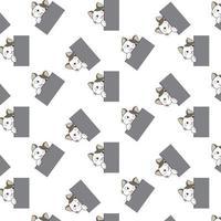 chats de dessin animé furtivement autour de modèle de coin